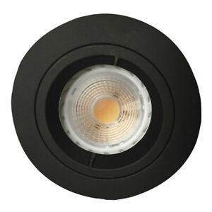 Spot à encastrer Fixe, Noir, IP65 BBC-RT2012, pour lampe 230V GU10 NON INCLUSE