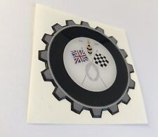 VESPA COG CROSSED FLAG RESIN 3D BADGE .ULMA FALBO VIGANO LAMBRETTA WASP UK GB
