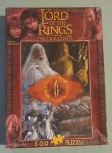 Lord of the Rings The Two Towers 500pc Puzzle Blue Opal 2001 - Complete