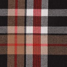 Tissu Habillement Carreaux Écossais à Brun Rouge Noir Blanc 1,45m Bre