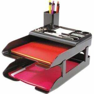 Deflecto Corporate Desk Tray Set - DEF583004