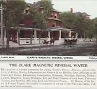 Magnetic Mineral Water Colorado Kidney Cure Clarks Sanitarium Pueblo Trade Card