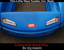 Replacement Decals Stickers fits Little Tikes Tykes Toddler Car Bed McQueen Cars