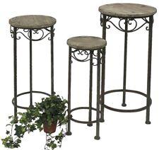 Blumenhocker Metall Malega 3er Set 11135 Blumenständer Rund Blumensäule Antik