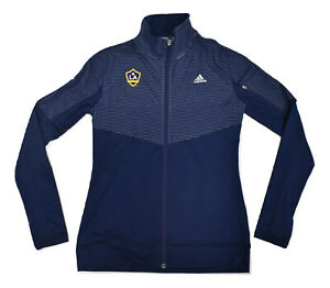 adidas Womens MLS Los Angeles Galaxy Full Zip Lightweight Jacket New S