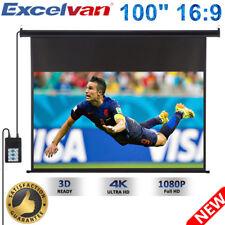 100'' 16:9 1.2 Gain 1080P HD Electric Motorized Projector Screen Remote Control