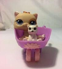 littlest pet shop LPS #30 Cat Wheelbarrow Teddy bear 3p HB-2-19