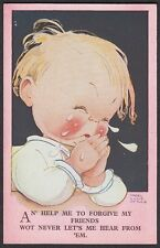 """Mabel Lucie Attwell - """" An help me forgive my friends  ... """"  Girl Crying"""