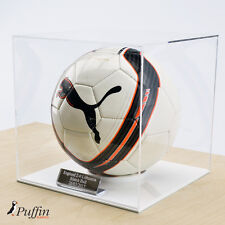 Perspex Football Display Cases (White Base)