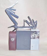 Victorinox SwissTool Spirit  V-3.0227.L1 pinza multiuso con fodero in cuoio