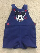 """Disney Baby Boys """"Mickey"""" Blue Overalls Size 3-6 3/6 Months"""