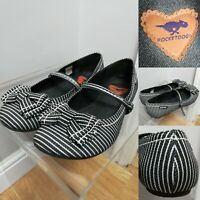 Rocket Dog Striped Dolly Shoes Mary Jane Flats Strap Ballet Pumps Bows UK 6
