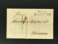 Vorphila Brief Hamburg August Burmeister n. Bordeaux Firma Schröder+Schyler 1841
