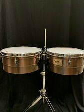 """Tycoon Percussion 14"""" & 15"""" Antique Copper Timbales"""