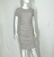 Standard James Perse 4 Dress Gray Ruched Sides Stretch Short Sleeve Womens Sexy
