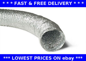 Aluminium foil flexible ducting Ventilation pipe hydroponics hose tube kitchen