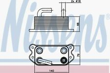 Nissens Oil Cooler 90738 Fit with Volvo S80