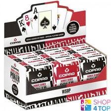 12 DECKS COPAG WSOP WORLD SERIES OF POKER 100% PLASTIC JUMBO SEALED BOX CARDS