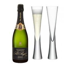 Pol Roger Brut Vintage Champagne 75cl with LSA Flutes