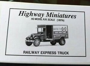 Jordan Highway Miniatures HO Scale Model Railway Express Truck (1:87th Scale)