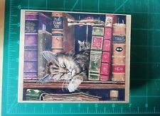 Stamps Happen Charles Wysocki Frederick the Literate Cat Large rubber Stamp
