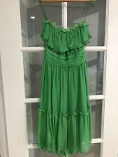 MILLY Of New York Green Silk Dress Size 2