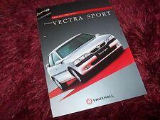 Dépliant pub /  Brochure VAUXHALL Vectra Sport (idem Opel Vectra V6 ) 1997 //