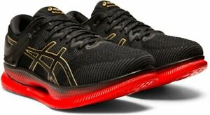 RARE! Asics Metaride Running Athletic Shoes Blk Gold Red 1011A142 Mens