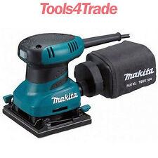 "Makita BO4555 240V 1/4"" Dustless Palm Sander with Dustbag Hook & Loop + Clamp"