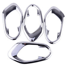 4x Interior Chrome Door Handle Bowl Trim Cover Fit For Jeep Cherokee 2014-2017