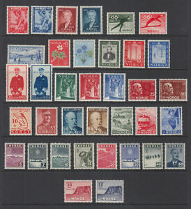 Norway lot 1940's - 1950's All VF Mint Never Hinged High Cat! Low Start!