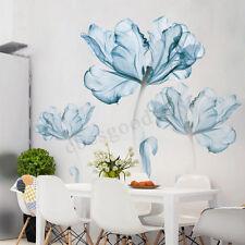 1f2d56adceaf Large Blue Flower Mural Art Decal Home Room Decor Wall Stickers DIY  180x110cm