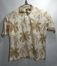 Op Sport Hawaiian Aloha Shirt Tropical Palm Trees 100% Cotton