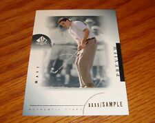 New listing 2001 SP Authentic Golf Preview MATT KUCHAR Authentic Stars Sample Card