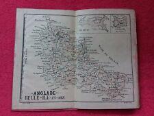 Carte ancienne BELLE ILE EN MER/ANGLADE/22x18
