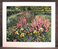 Original Serigraph by Susan Rios, Garden Memories, Signed and numbered