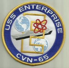 "Uss Enterprise Cvn-65 U.S.Navy Patch 4 1/2"" Nuclear Aircraft Carrier Ship Sailor"