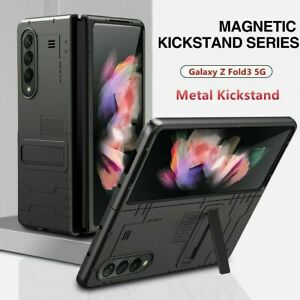 For Samsung Galaxy Z Fold 3 5G Magnetic Kickstand Rugged Hard PC Case Cover