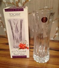 "St George Fine Lead Crystal Toscany Classic 6 1/2"" Bud Vase NIB - 10 available"