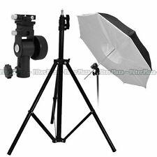 Pro Studio Light Stand +Flash Speedlite Bracket + Umbrella Reflector Softbox Kit