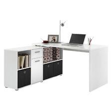 Corner Computer Desk Home Office PC Furniture Table Study Cabinet Drawer Storage