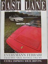 FAST LANE 05/1987 featuring Toyota MR2, Ferrari, Lamborghini, Audi, Rover, Volvo