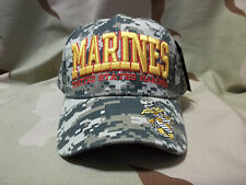 United States Marine Corps DIGITAL ACU CAMO Adjustable Embroidered Hat