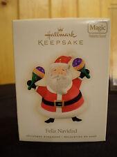 Feliz Navidad*Hallmark Keepsake MAGIC ORNAMENT*Plays MUSIC*Papa Noel ~FREE SHIP~