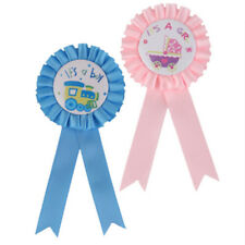 New Baby Shower Party Award Ribbon Rosette Badge Brooch XW