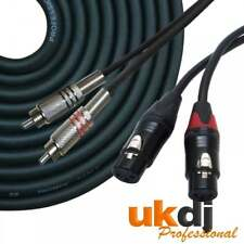 3m 2 x Female XLR to 2 x RCA Phono Plug Twin Audio Signal Lead Pure Copper Cable