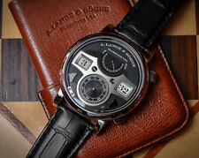 A. Lange & Sohne Zeitwerk Striking Time 44.2mm 18ktWhite Gold Black Dial 145.029