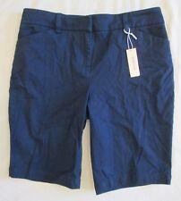 Jones New York Sport Petite Stretch NAVY BLUE Bermuda Shorts 6P * NEW