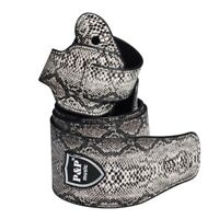 Acoustic Electric Guitar Strap Snake Skin PU Leather Musical Instrument Belt US