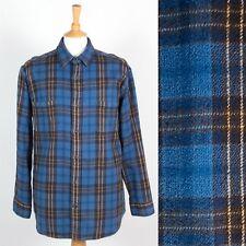 Homme St. John's Bay épaisse chemise en flanelle bleu à motif écossais Bûcheron à Carreaux Rockabilly L